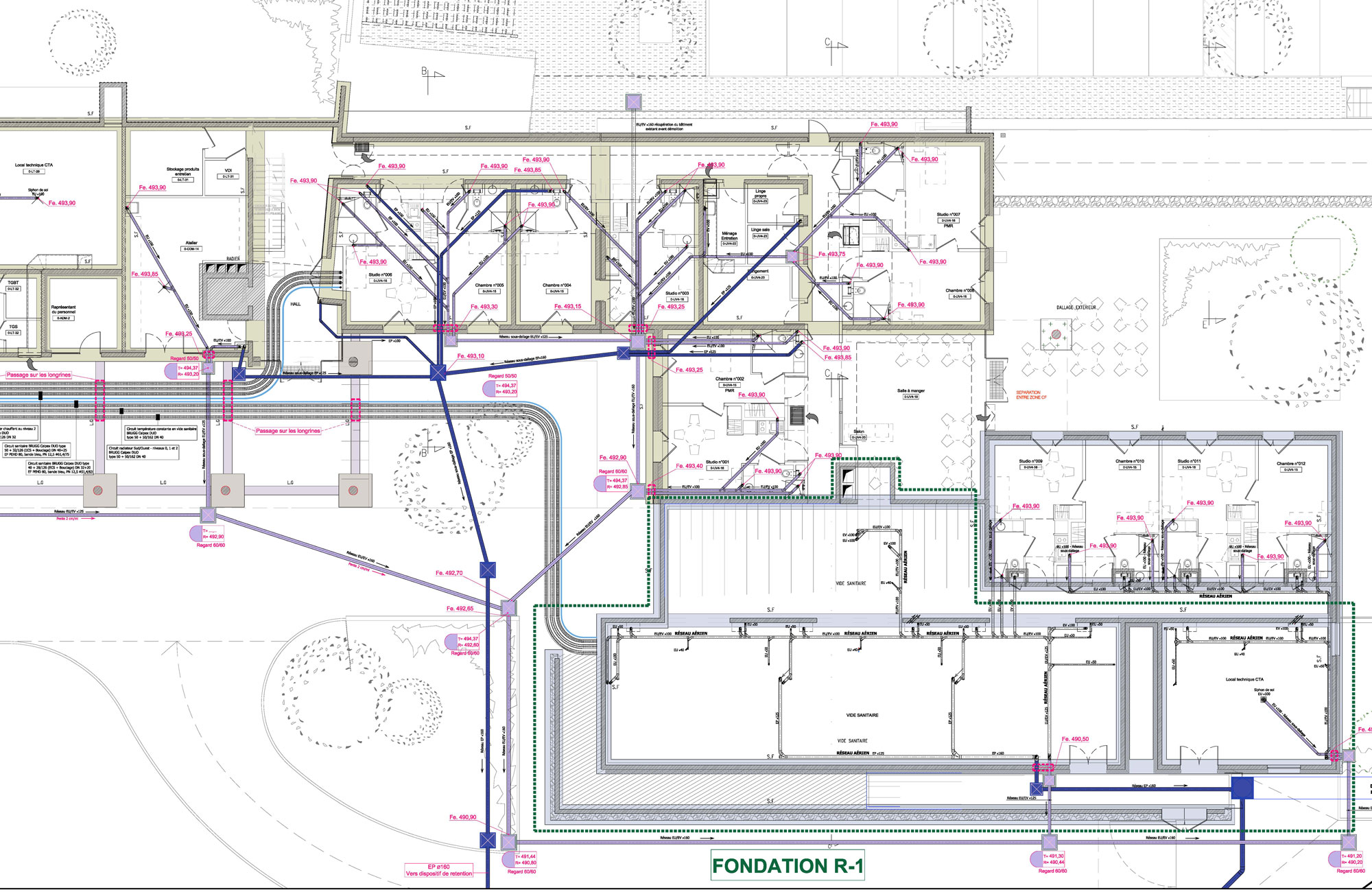 Foyer Handicap Plan Les Ouates : Opac du rhône reconstruction d un foyer de vie adapei à